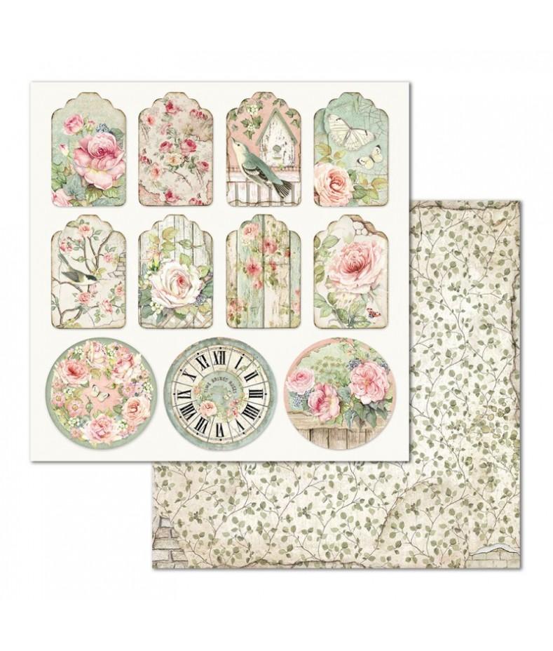 Papier do scrapbookingu Stamperia House of Roses, tagi SBB677