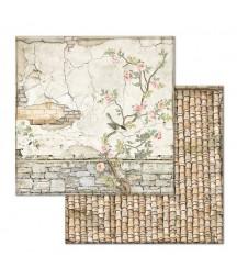 Papier do scrapbookingu Stamperia House of Roses, Różany mural SBB678