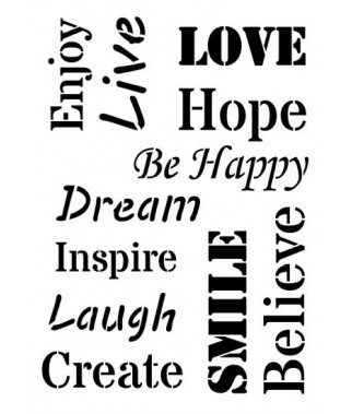Szablon do decoupage A5 Daily ART - Inspiration Words