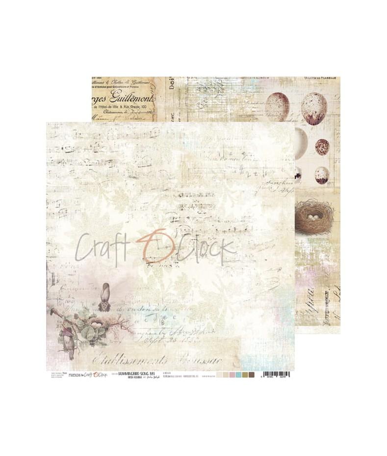 Papier do scrapbookingu Hummingbird Song 01 Craft O'Clock