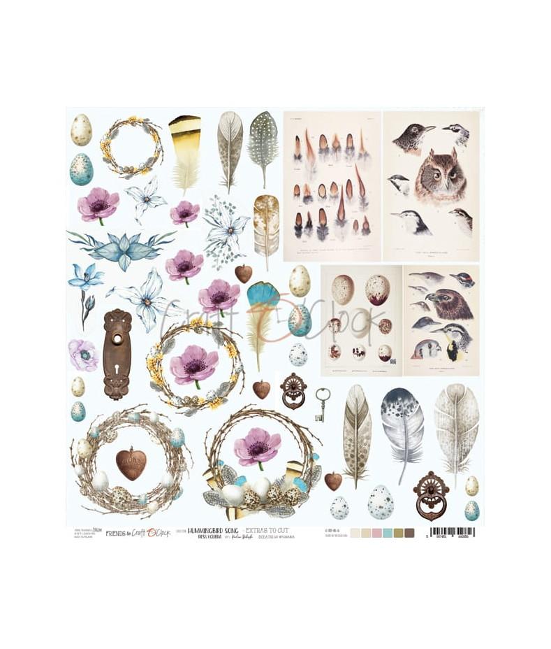 Arkusz do scrapbookingu Craft O'Clock Hummingbird Song