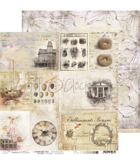 Papier do scrapbookingu Craft O'Clock Hummingbird Song  - arkusz z kartami