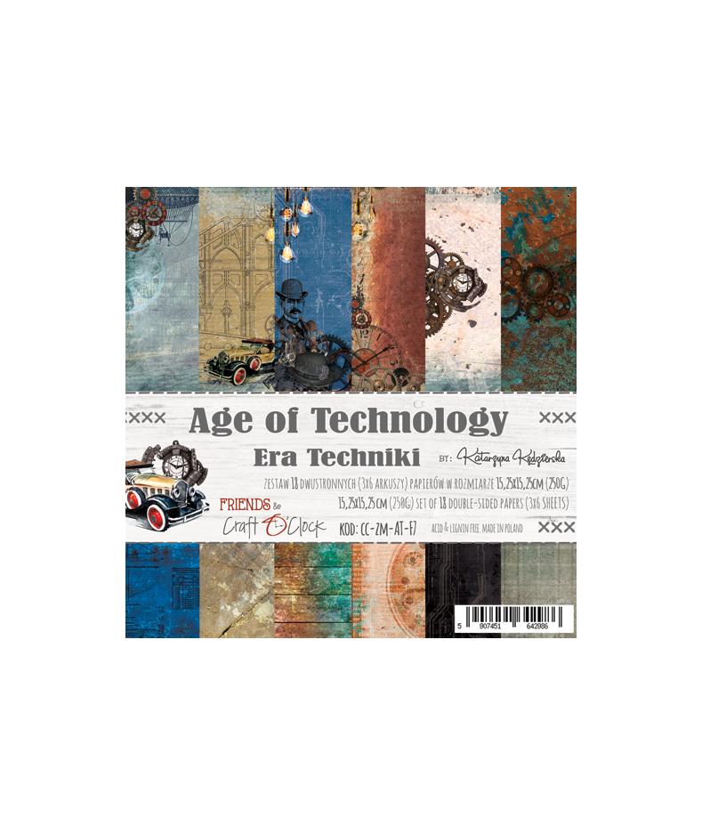 Zestaw papierów do scrapbookingu Craft O'Clock, Age of Technology