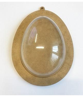 Bazy do ozdób wielkanocnych - jajko 15 cm z ramką HDF i połówką akrylową