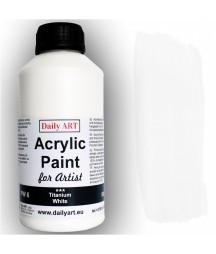 Farba akrylowa dla artystów, titanium white - biała tytanowa, 500 ml - Daily Art