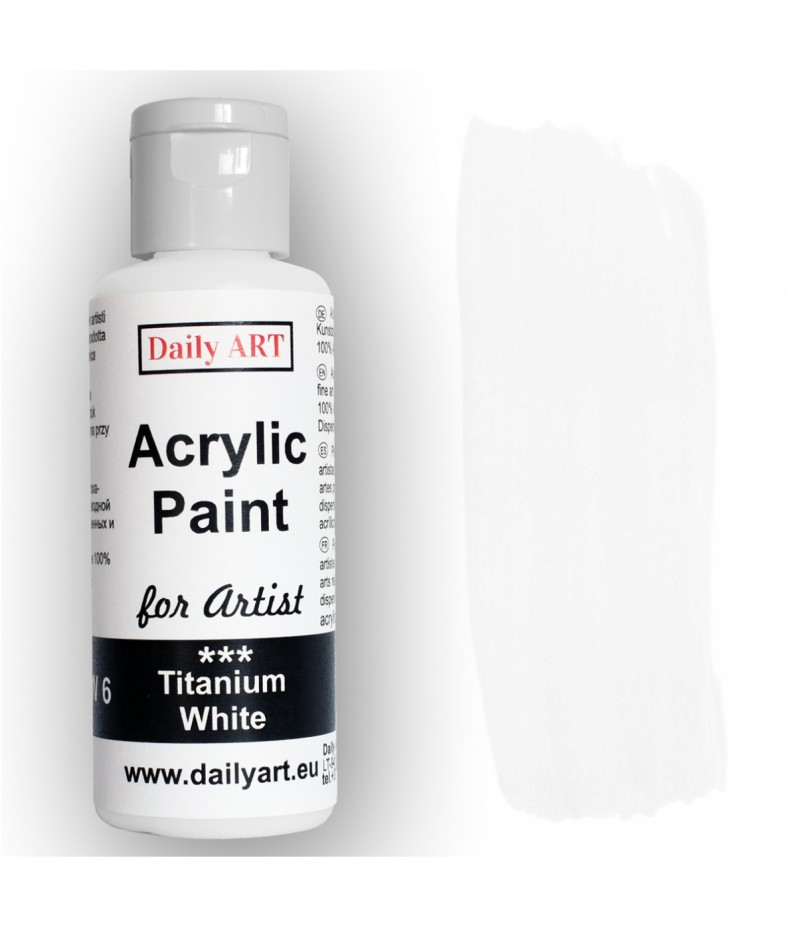 Farba akrylowa dla artystów, titanium white - biała tytanowa, 50 ml - Daily Art