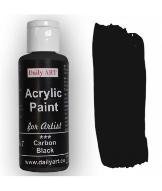 Farba akrylowa dla artystów, carbon black - grafitowa, 50 ml - Daily Art