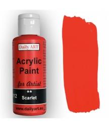 Farba akrylowa dla artystów, scarlet - szkarłatna, 50 ml - Daily Art