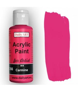 Farba akrylowa dla artystów, carmine - karminowa, 50 ml - Daily Art