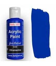 Farba akrylowa dla artystów, ultramarine - ultramaryna, 50 ml - Daily Art