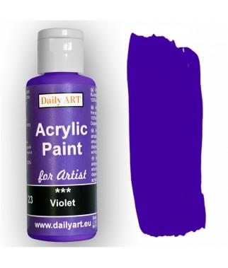 Farba akrylowa dla artystów, violet - fioletowa, 50 ml - Daily Art