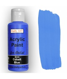 Farba akrylowa dla artystów,cobalt blue - kobaltowy niebieski, 50 ml - Daily Art