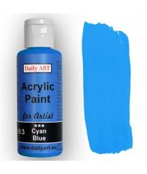 Farba akrylowa dla artystów, cyan blue - cyjan, 50 ml - Daily Art