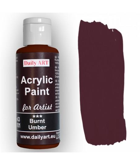 Farba akrylowa dla artystów, burnt umber - umbra palona, 50 ml - Daily Art