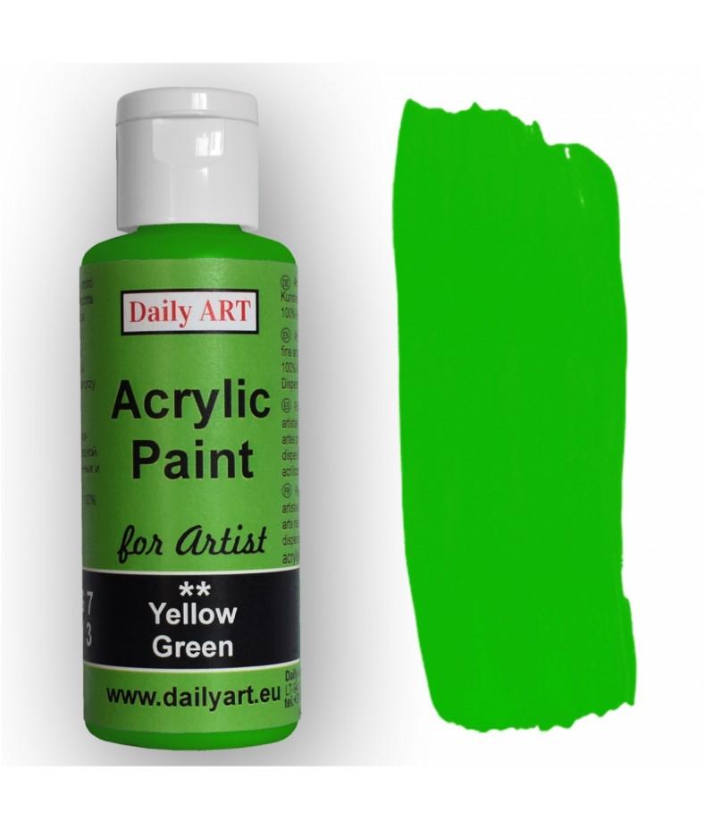 Farba akrylowa dla artystów, yellow green - żółta zieleń, 50 ml - Daily Art