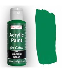 Farba akrylowa dla artystów, emerald green - szmaragdowa zieleń, 50 ml - Daily Art