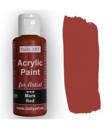 Farba akrylowa dla artystów, Mars red - czerwień Marsa, 50 ml - Daily Art