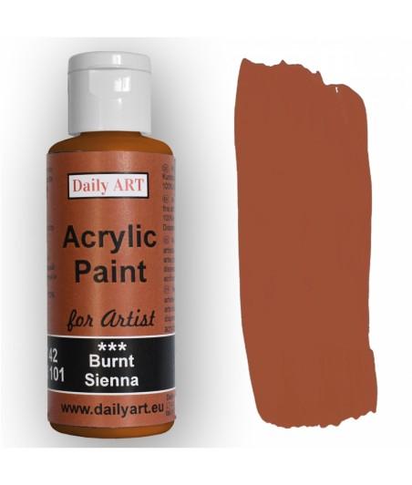 Farba akrylowa dla artystów, burnt sienna - siena palona, 50 ml - Daily Art