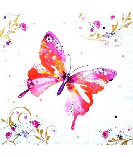Serwetka do decoupage - Motyle 10