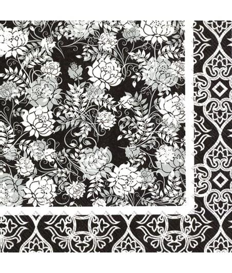 Serwetka do decoupage - Kwiaty (cz-b)