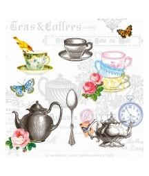 Serwetka do decoupage - Tea...