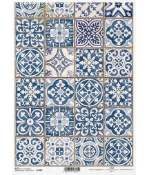 Papier ryżowy do decoupage, Portugalskie kafelki azulejos, ITD Collection R1380