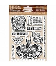 Stemple do scrapbookingu Stamperia WTKCC165, Miłość serce gorset