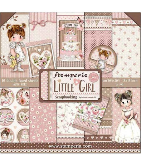 Zestaw papierów do scrapbookingu, Stamperia SBBL67 Little Girl
