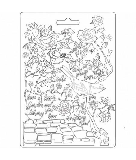 Forma do mas strukturalnych A5 Stamperia, Pnąca róża i bluszcz
