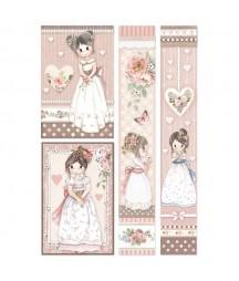 Papier ryżowy Stamperia A4 - Little girl dziewczynki DFSA4452