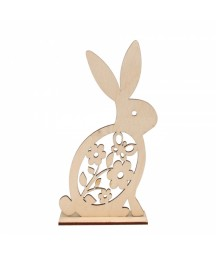 Wielkanocna dekoracja -króliczek z kwiatkami