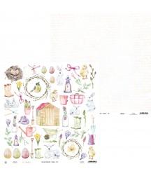 Papier do scrapbookingu P13, The Four Seasons Spring 07b