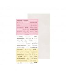 Papier do scrapbookingu P13 The Four Seasons - Spring 08 - arkusz z napisami