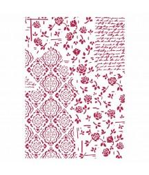 Szablon Stamperia KSG439 - róże i ornamenty