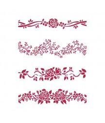 Szablon Stamperia KSG444 różane bordy