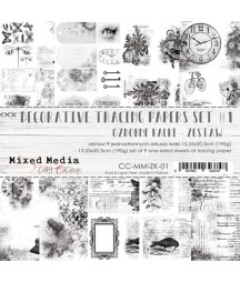Zestaw kalek do scrapbookingu Craft O'Clock, seria Mixed Media