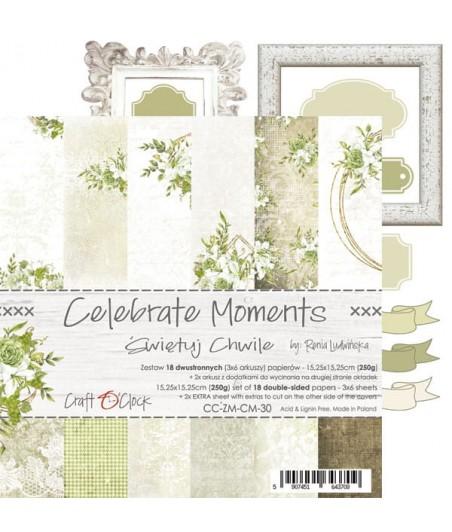 Zestaw papierów do scrapbookingu Craft O'Clock, Celebrate Moments - na Chrzest Komunię Ślub