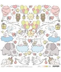 Arkusz do scrapbookingu Craft O'Clock Sweet Princess Premium I
