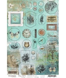 Elementy tekturowe Hazy Street Craft O'Clock - die cuts