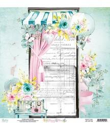 Papier do scrapbookingu Mintay Papers - Happy Place 03 - pierwsza strona