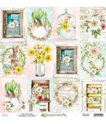 Papier do scrapbookingu Mintay Papers - Beauty in Bloom 06 - pierwsza strona