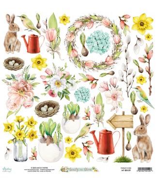 Papier do scrapbookingu Mintay Papers - Beauty in Bloom 09 - arkusz dodatków