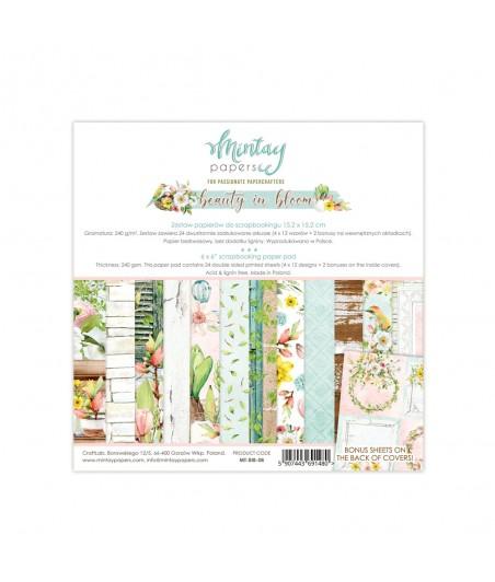 Bloczek do scrappbokingu 15x15 cm, Beauty in Bloom - Mintay Papers