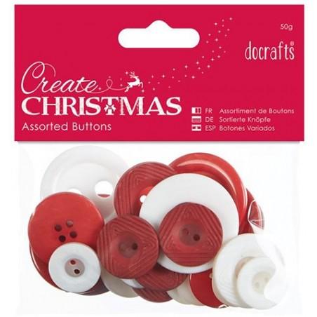 Guziki dekoracyjne, Docrafts Create Christmas, Nordic Christmas 50 g [PAM-354397]