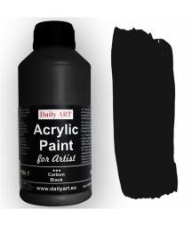 Farba akrylowa dla artystów, carbon black - grafitowa, 500 ml - Daily Art