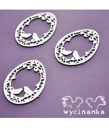 Wycinanka - A little bit of swirls - pisanki