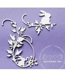 Wycinanka - dekory z zajączkami
