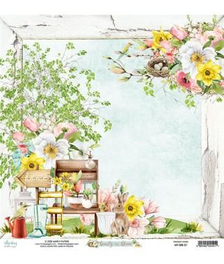Papier do scrapbookingu Mintay Papers - Beauty in Bloom 01