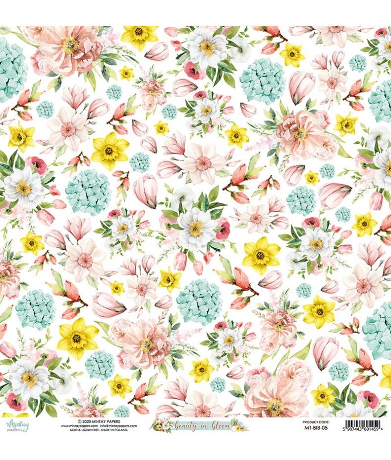 Papier do scrapbookingu Mintay Papers - Beauty in Bloom 05