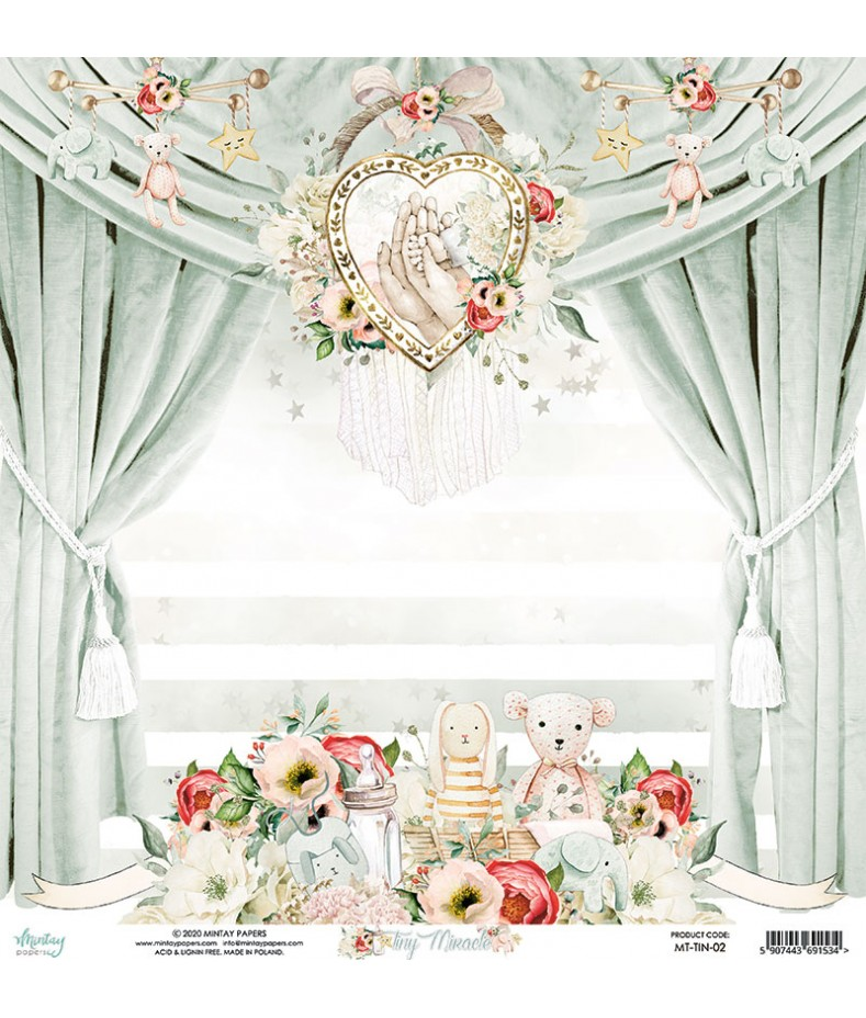 Papier do scrapbookingu Mintay Papers - Tiny Miracle 02